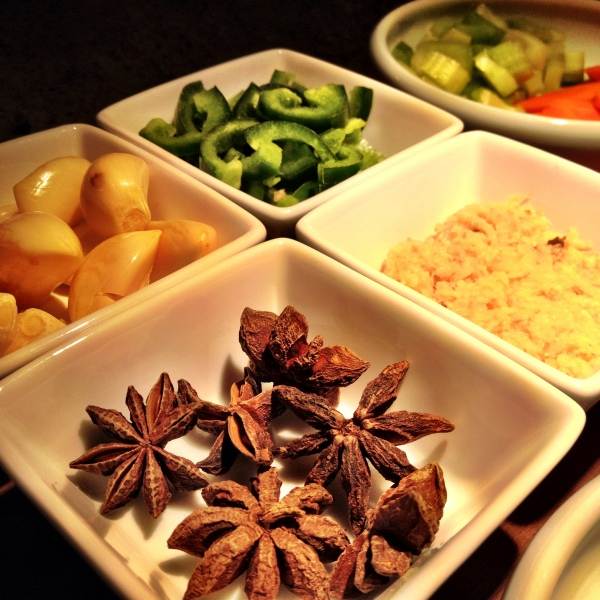 Star anise looks weird, tastes delicious. Make sure to pull out the pods once you're done cooking.